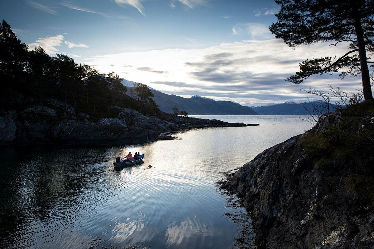 Turboklubben i Lysefjorden på hyttetur til Dyrkolbotn, oktober 2018.