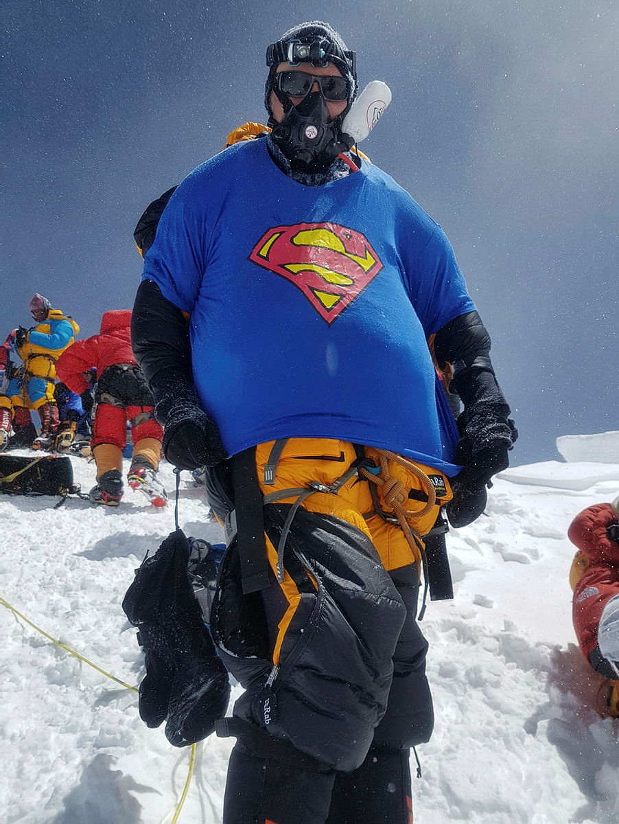André Spica på ekspedisjon til Mount Everest, 2017.