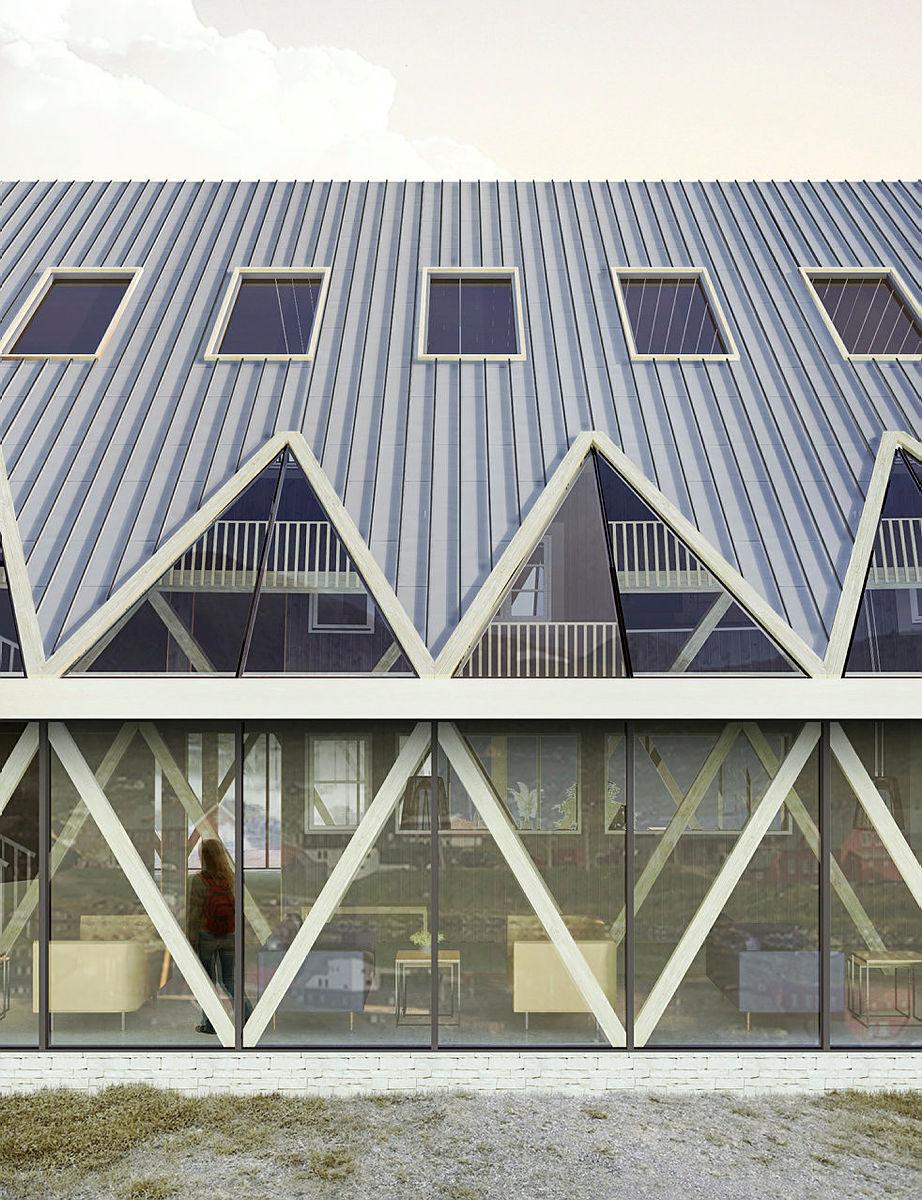 Arkitektskisser av nye Finse.