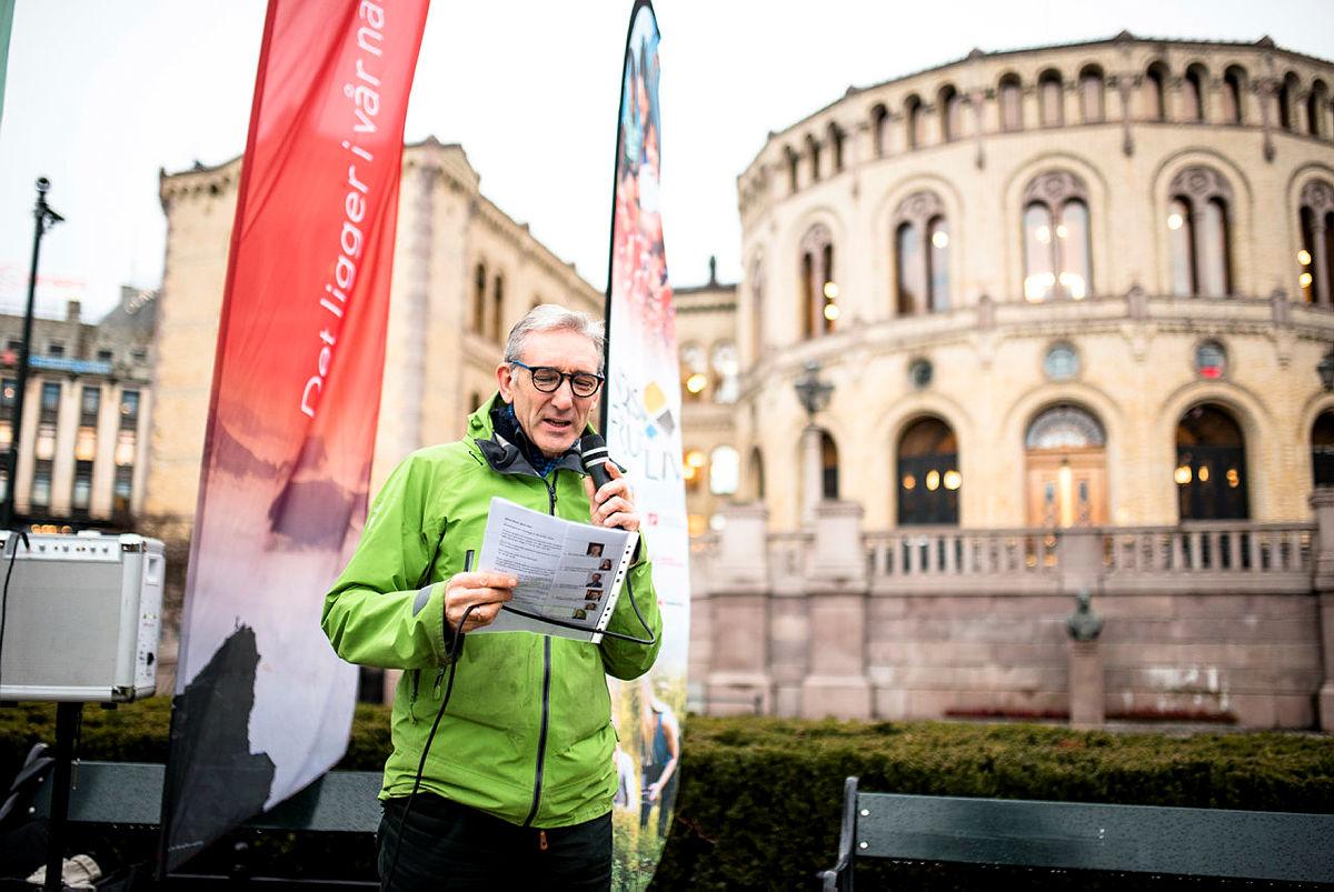Generalsekretær i Norsk Friluftsliv, Lasse Heimdal, holdt appell
