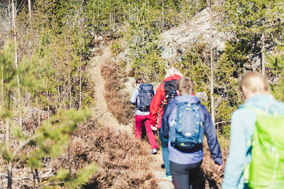 Bilde tatt ifm. DNT ung Notodden tur til Sildevika i april 2019.