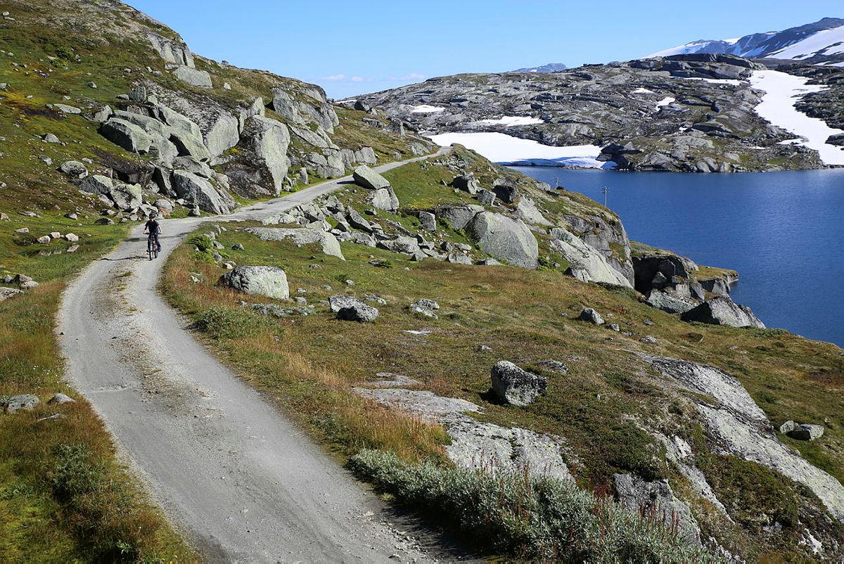 Rallarvegen, strekningen fra Finse til Flåm.