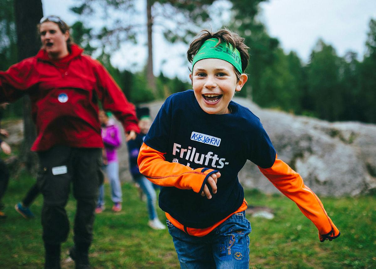 Friluftsliv er gøy! Foto fra en Friluftsskole på Ulsrud i 2015.