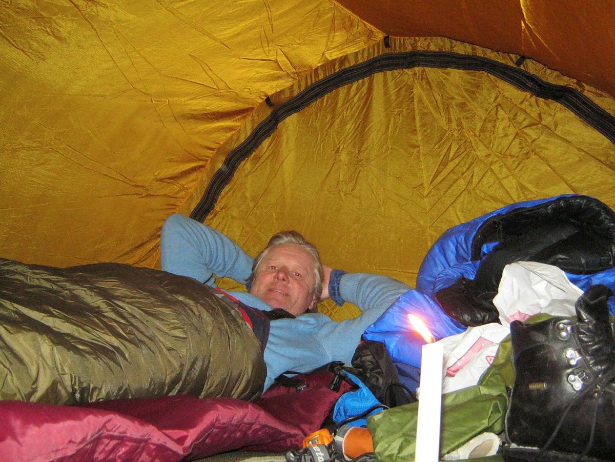 Teltovernatting ved Hallingskarvet.