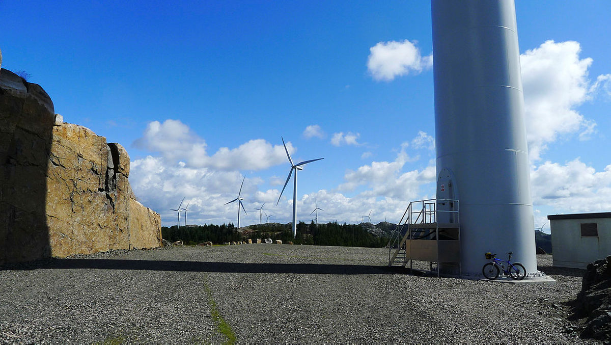 Wind power plant at Lista.