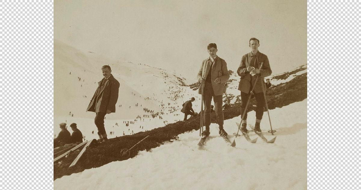 Skisport på Byfjellene i gamle dager