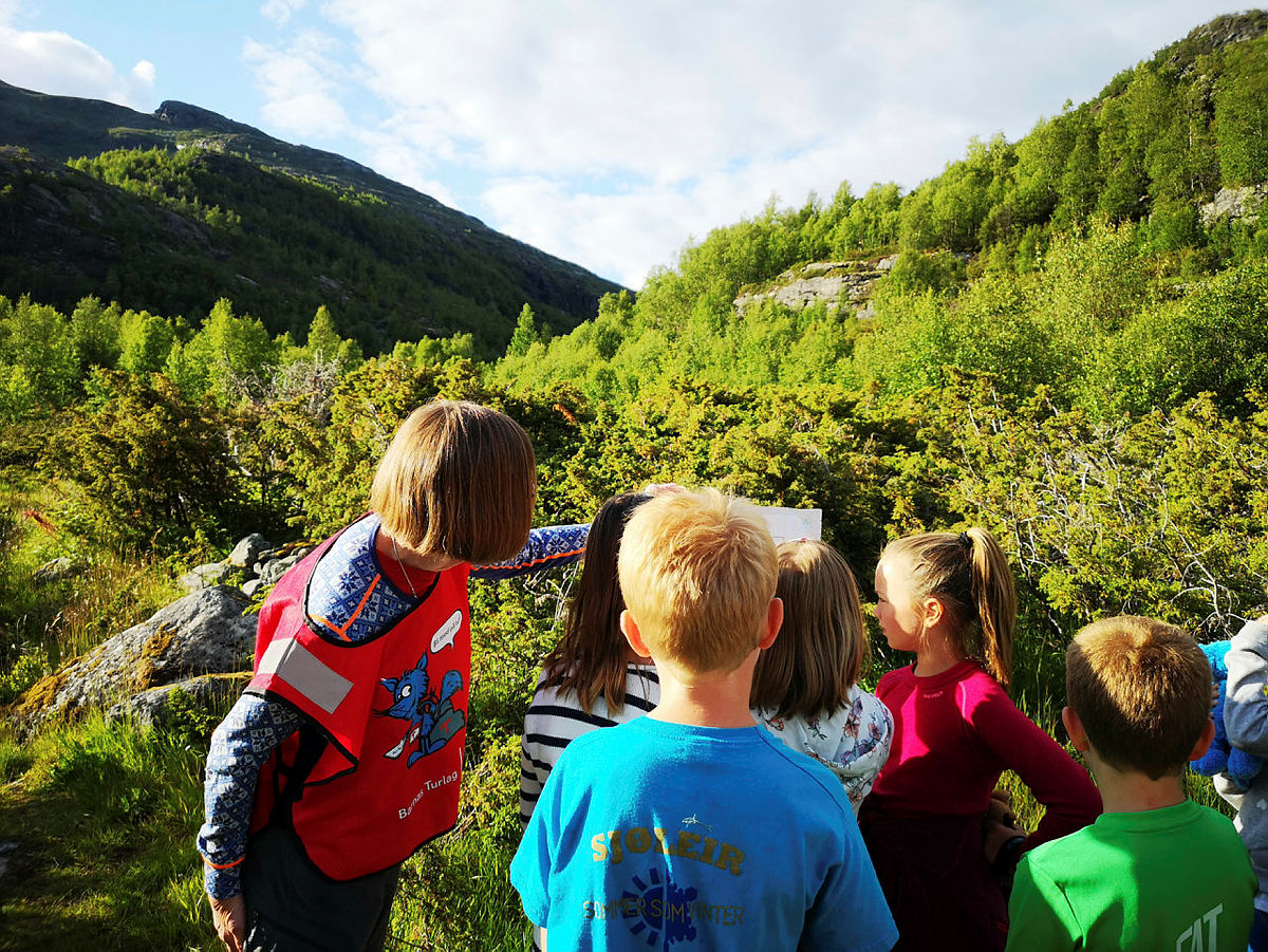 Fra DNT-turen Aktive dager i Aurlandsdalen med Barnas Turlag Oslo og Omegn i juli 2019.