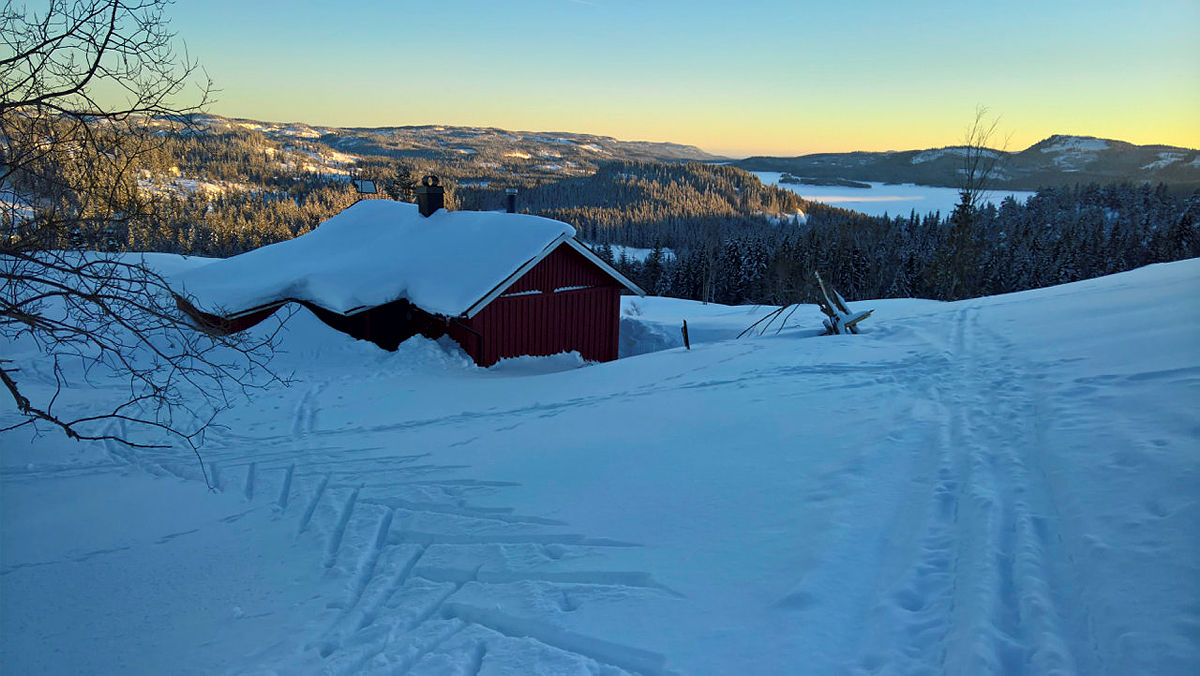 Nyt vinterlyset i Sauheradfjella