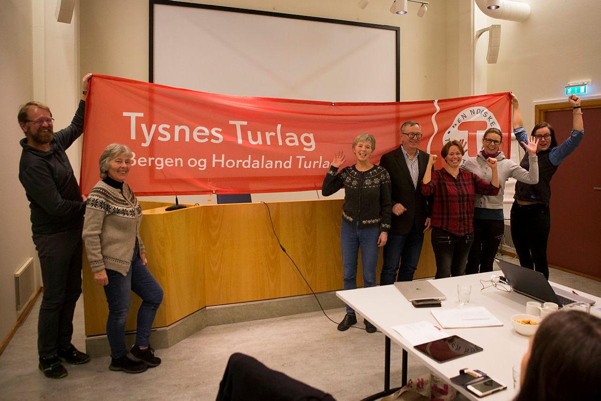 Her er det fleste personene i styret til Tysnes Turlag.