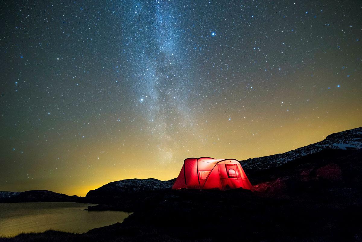 Med telt kan du bo nesten hvor som helst.