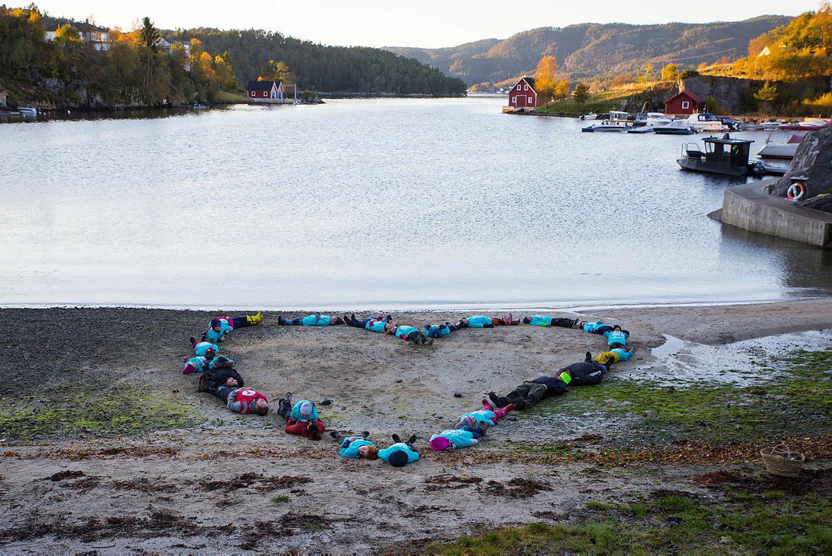 Turboklubben i Lysefjorden på strandrydding i forbindelse med TV-aksjonen i oktober 2020.