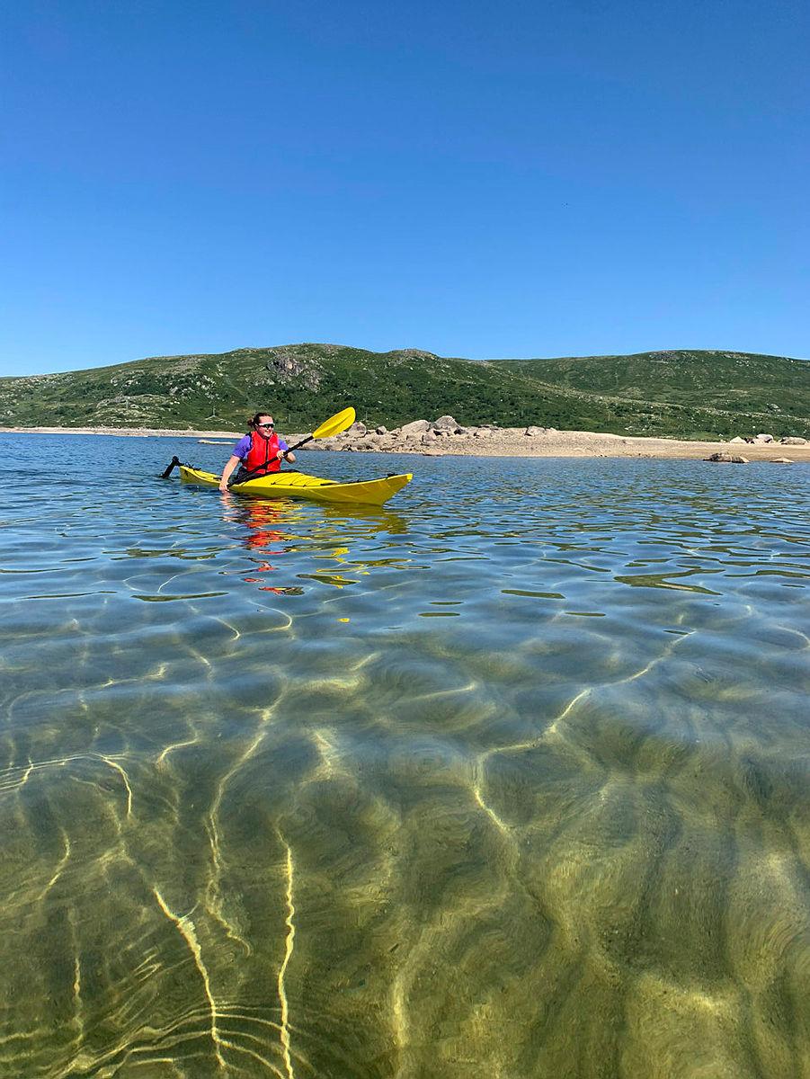 Nyt siste rest av sommeren ved Kalhovdfjorden.