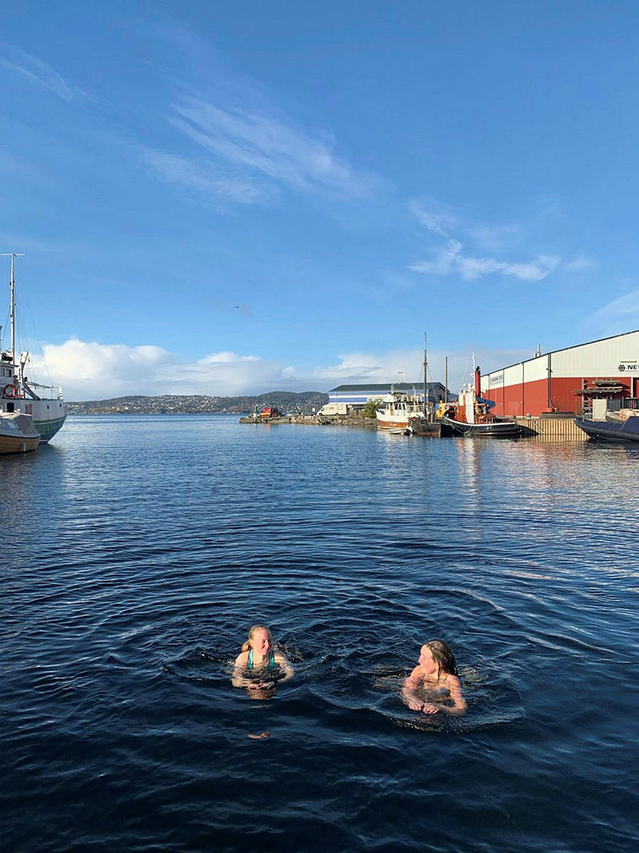 Bading med DNT ung Bergen i Sandviken