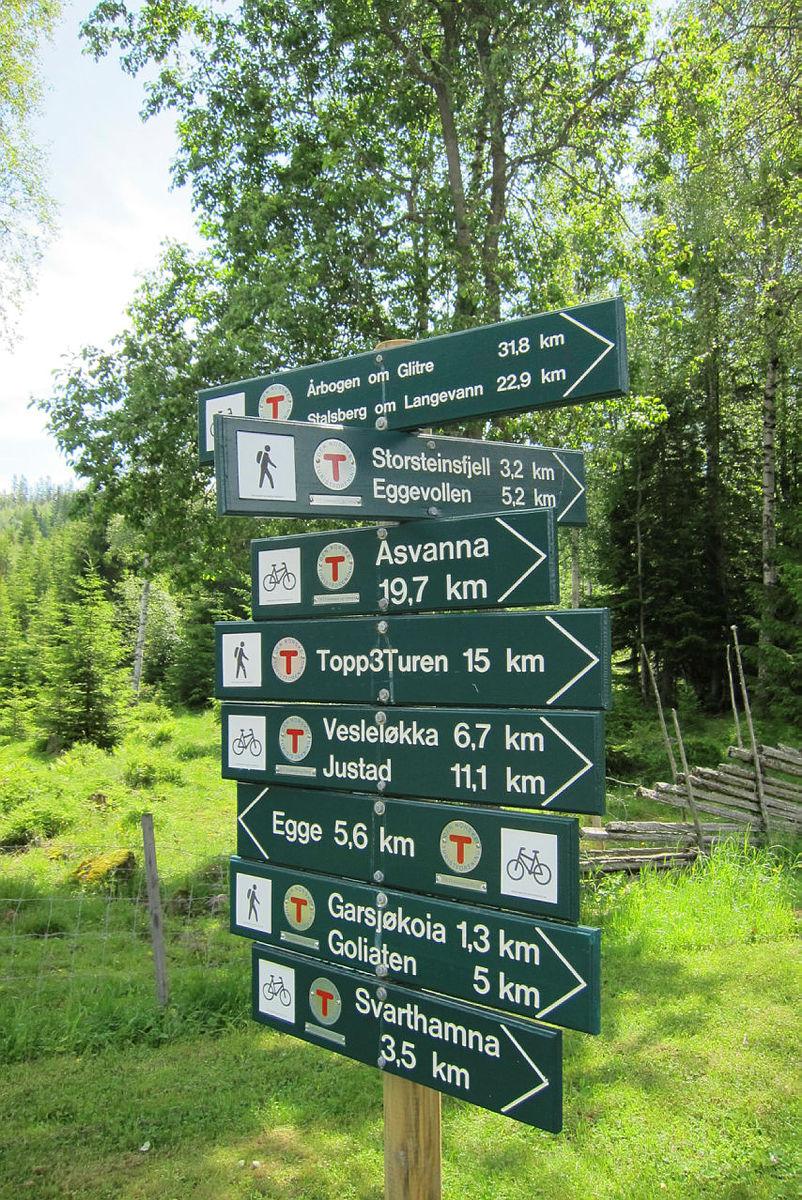 Mange fine turer å gå ut fra Eiksetra.