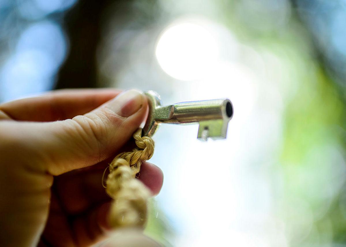 Standard DNT-nøkkel som gir tilgang til 550 hytter i hele Norge