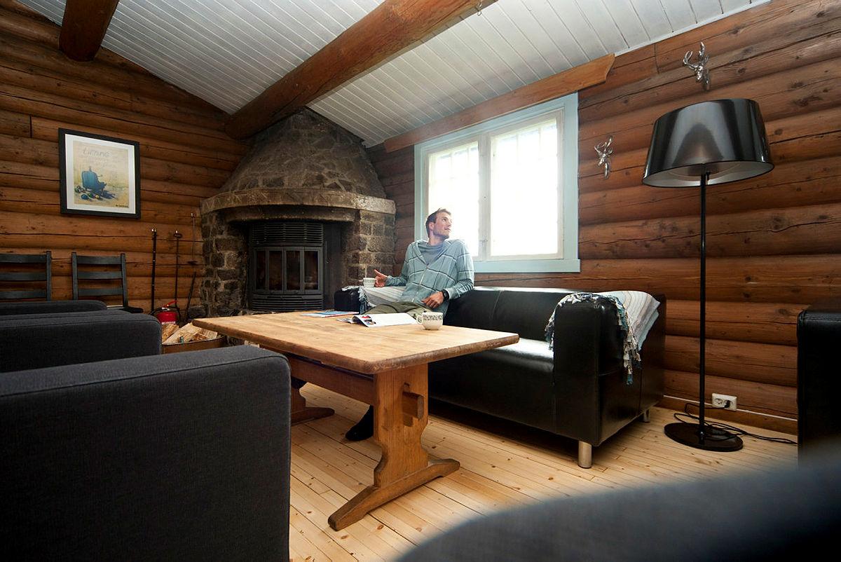 Mustadkroken er en stor hytte og passer fint når dere er flere på tur sammen.