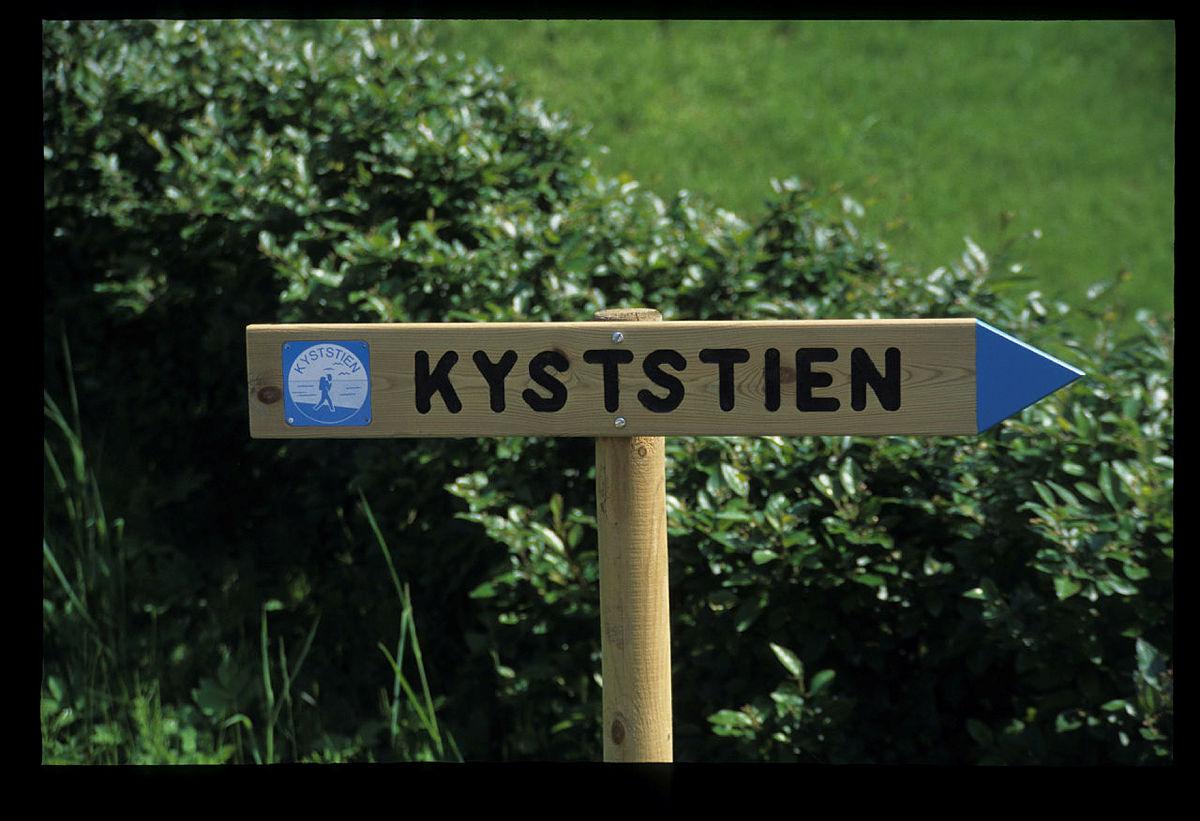 Skilt for Kyststien.