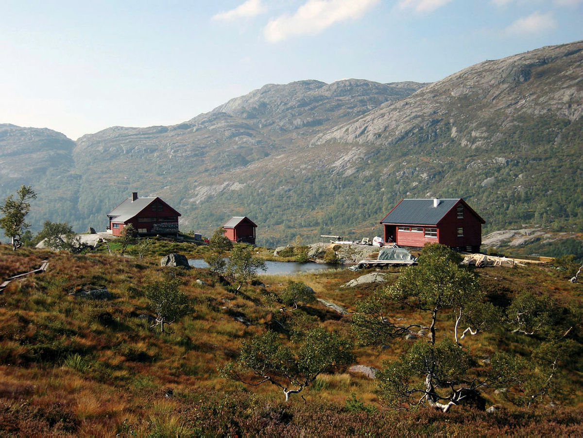 The cabin complex Blåfjellenden, in Gjesdal, Rogaland.