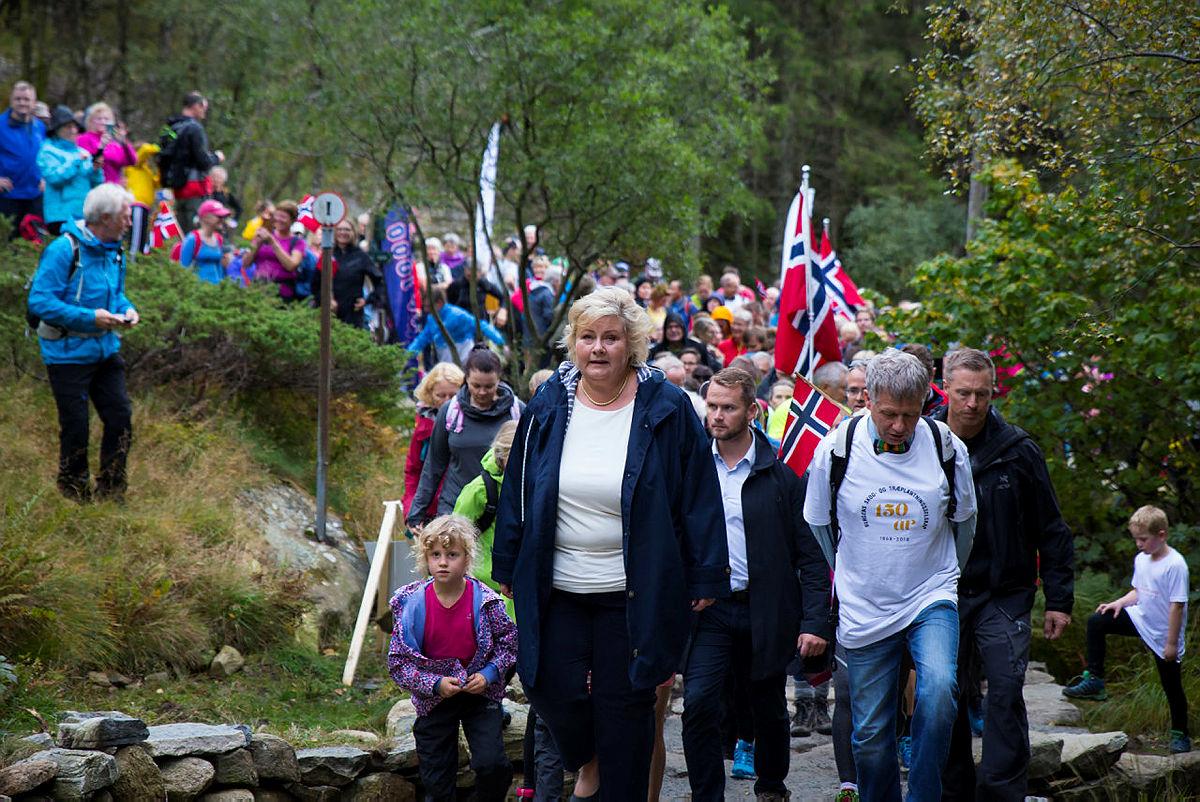 """Erna Solberg åpnet trappestien """"Oppstemten"""" tirsdag 18. september 2018."""