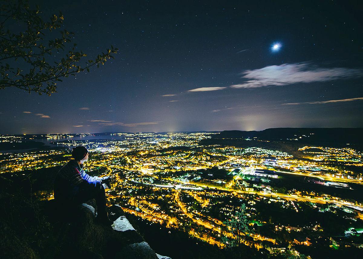 Fullmåne over Oslo og Akershus