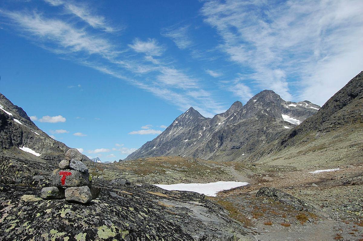 Tur fra Torfinnsbu gjennom spektakulære Svartdalen den 2. juli 2018.