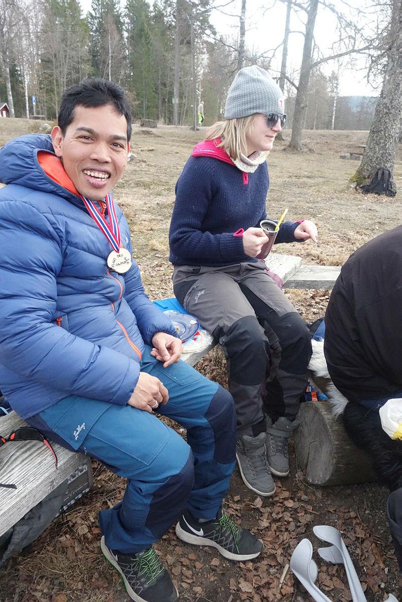 Styrketrening og gåtur i Siljanskogen med Klart det går