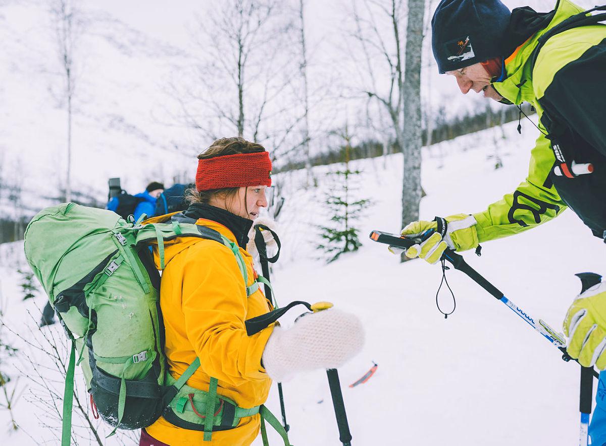 Unngå snøskred, ta trygge veivalg