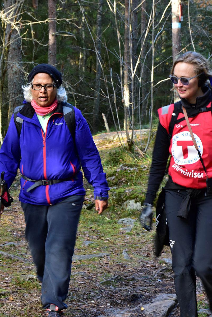 Internasjonal Søndagstur til Grønliåsen i Oslo syd. Oktober 2017.
