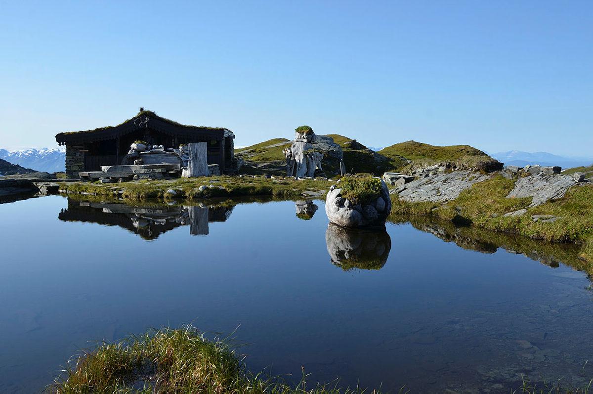 Breidablik i Kvamsfjella, Bergsdalen, Hardanger, sommer 2017