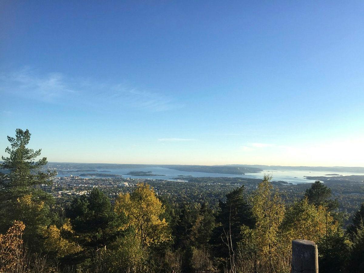 Fantastisk utsikt fra Vettakollen.
