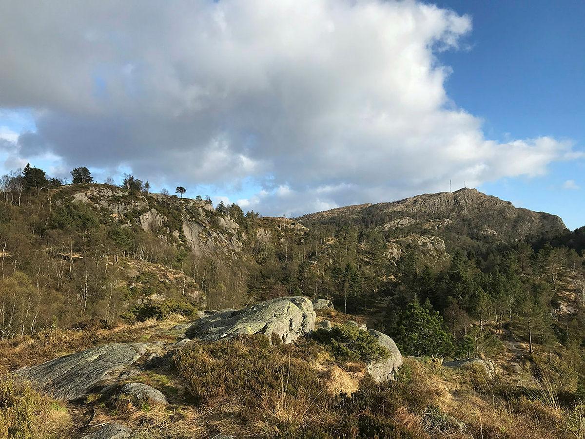 Nærtur i byfjellene i Bergen, 2020. Fra Ravnefjellet mot Løvstakken.