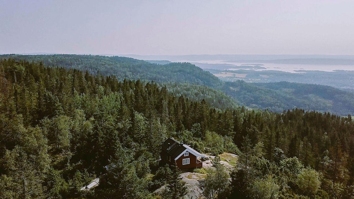 En av hytteperlene i Vestmarka er Hovdehytta