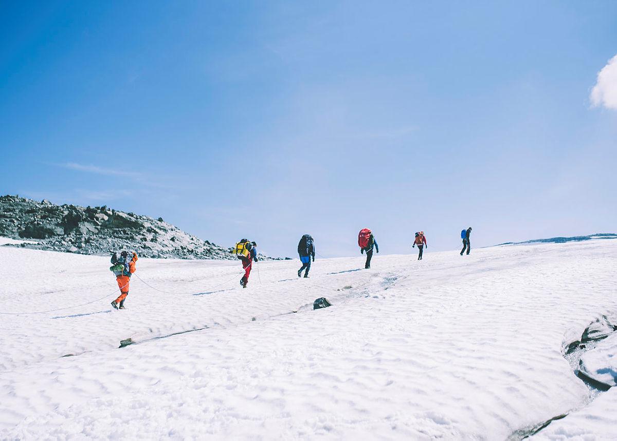 Andre uken av minutt for minutt gikk fem dager gjennom Jotunheimen. Bildet er fra andre etappe fra Sognefjellshytta til Fannaråkhytta.