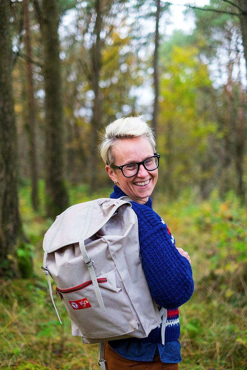 Leder for Tursenteret i Stavanger, Kaja Raa Storaker på bildet gir deg gode tips til et mer miljøvennlig innhold i tursekken. Kom gjerne innom Tursenteret for å ta en nærmere titt på innholdet.
