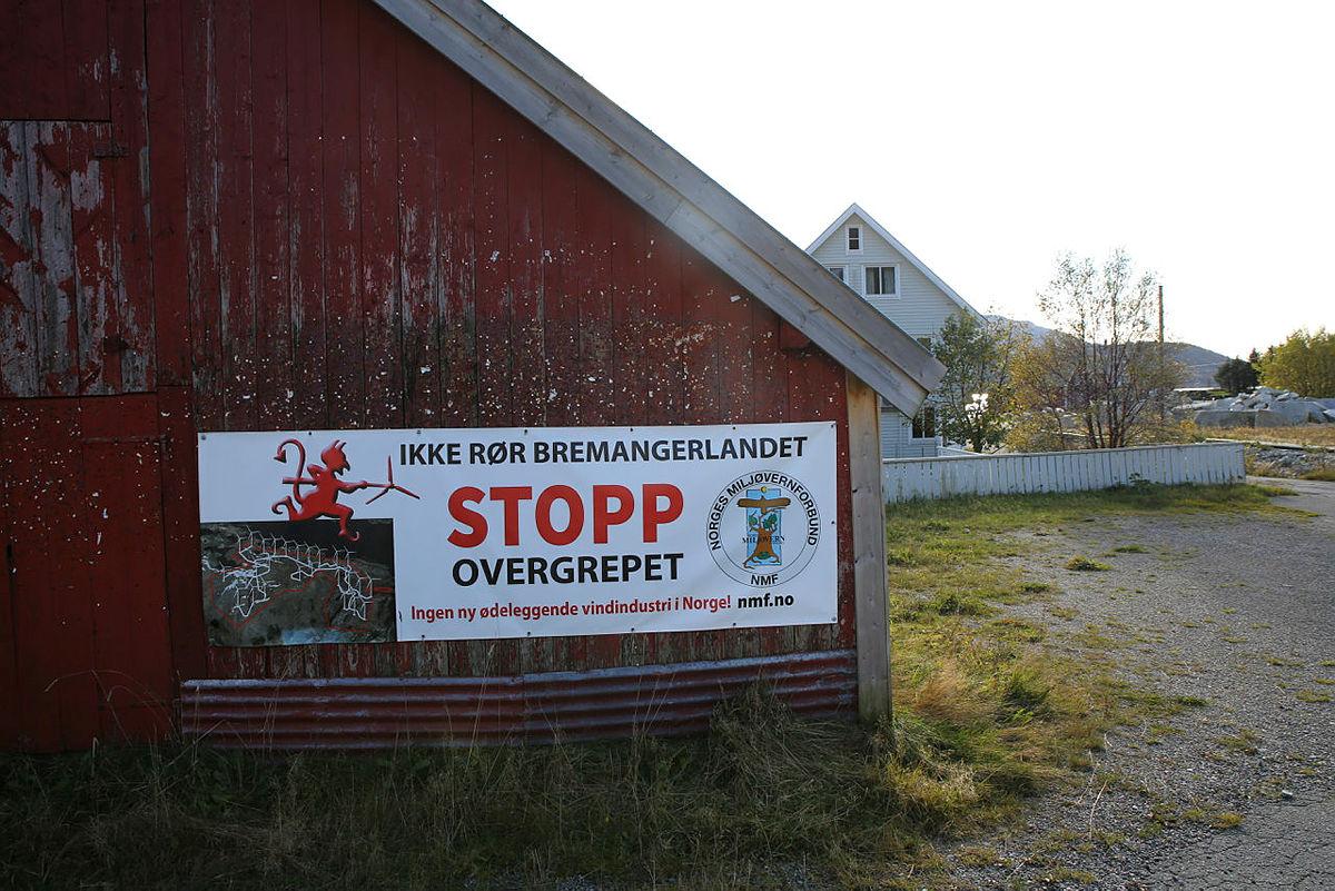 Stor lokal motstand mot vindkraftanlegget som SFE ønsker å bygge på Bremangerlandet.