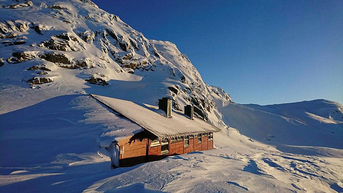 Langavatn blir tilgjengelig for skiturer i mai. Bildet er fra et tidligere år.