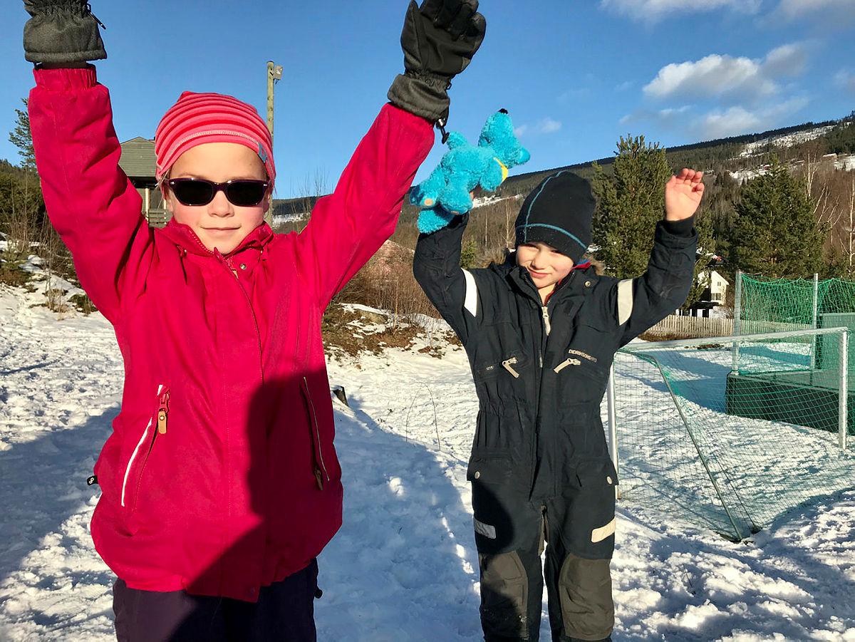 Anine og Arian Torden Pollen hadde det kjempemoro!