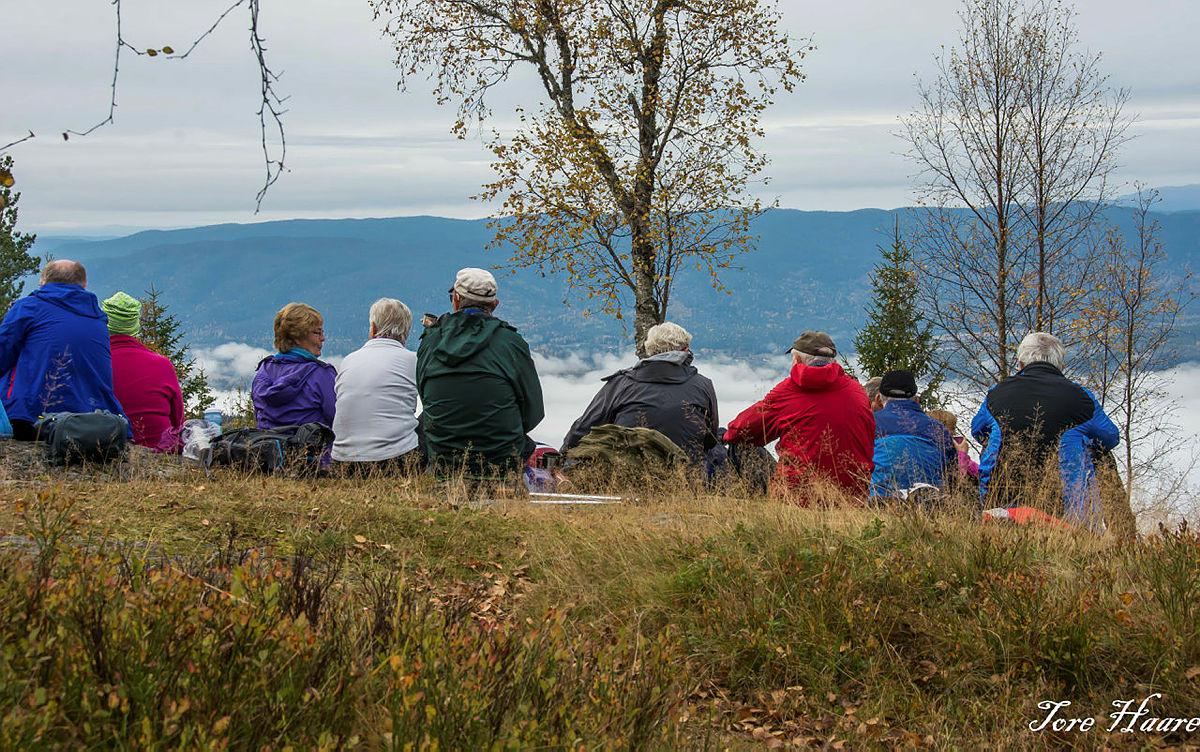 """Turgruppa """"Ut på tur Eiker"""" på tur til Glomsrudkollen"""