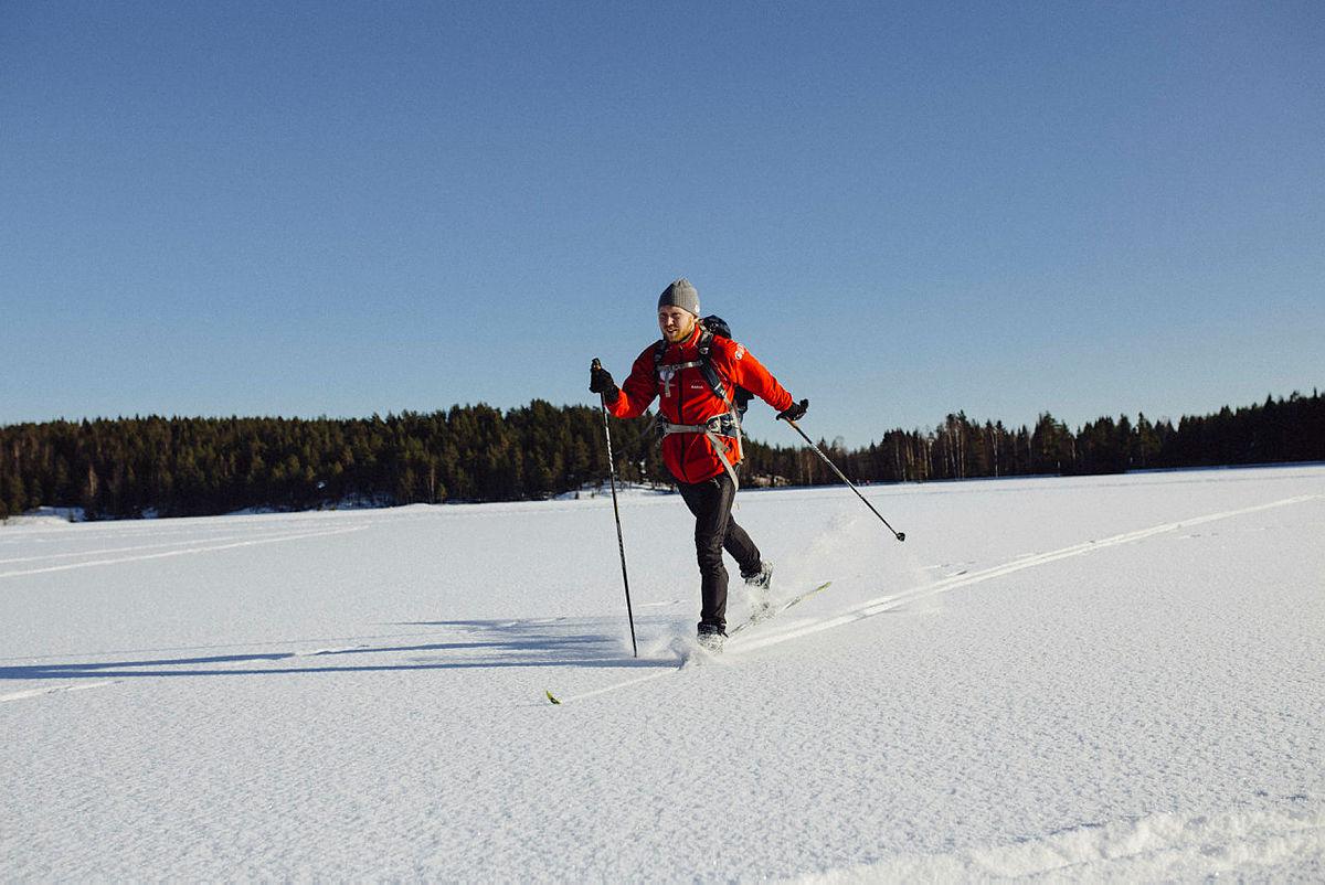 Bærumarka i februar 2016.