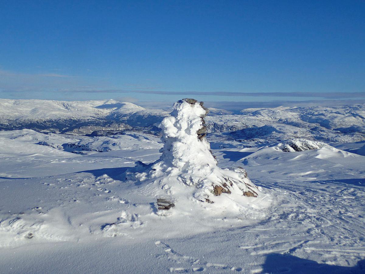 Hamlagrøhornet - populær turtopp i Bergsdalen
