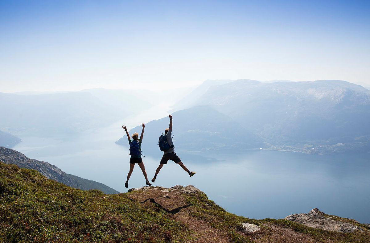 Tur til Oksen fra Tjoflot i Hardanger