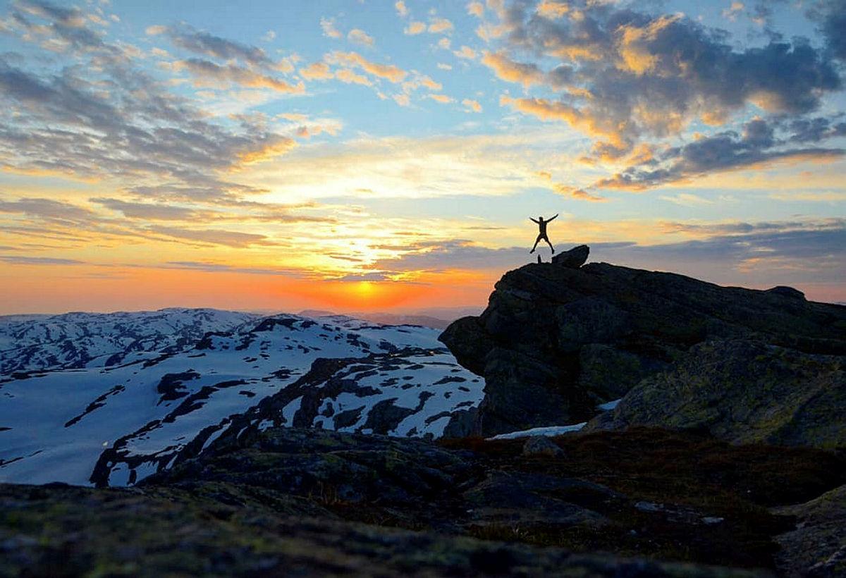 Skitur i Kvammafjella.