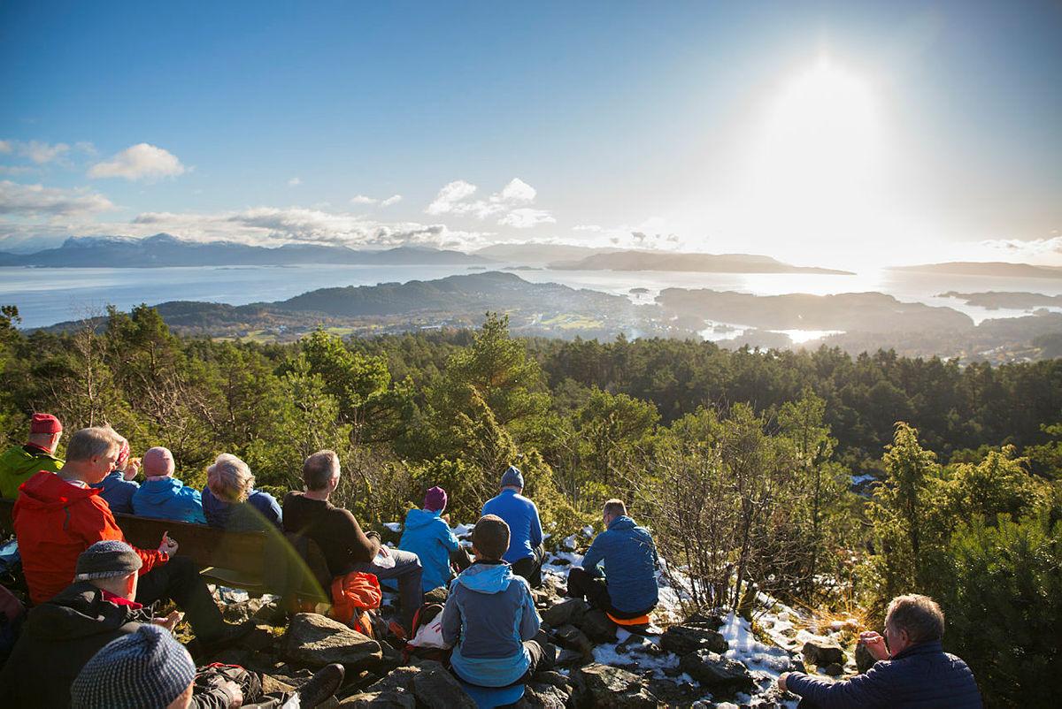 Utsikt fra Liafjellet.