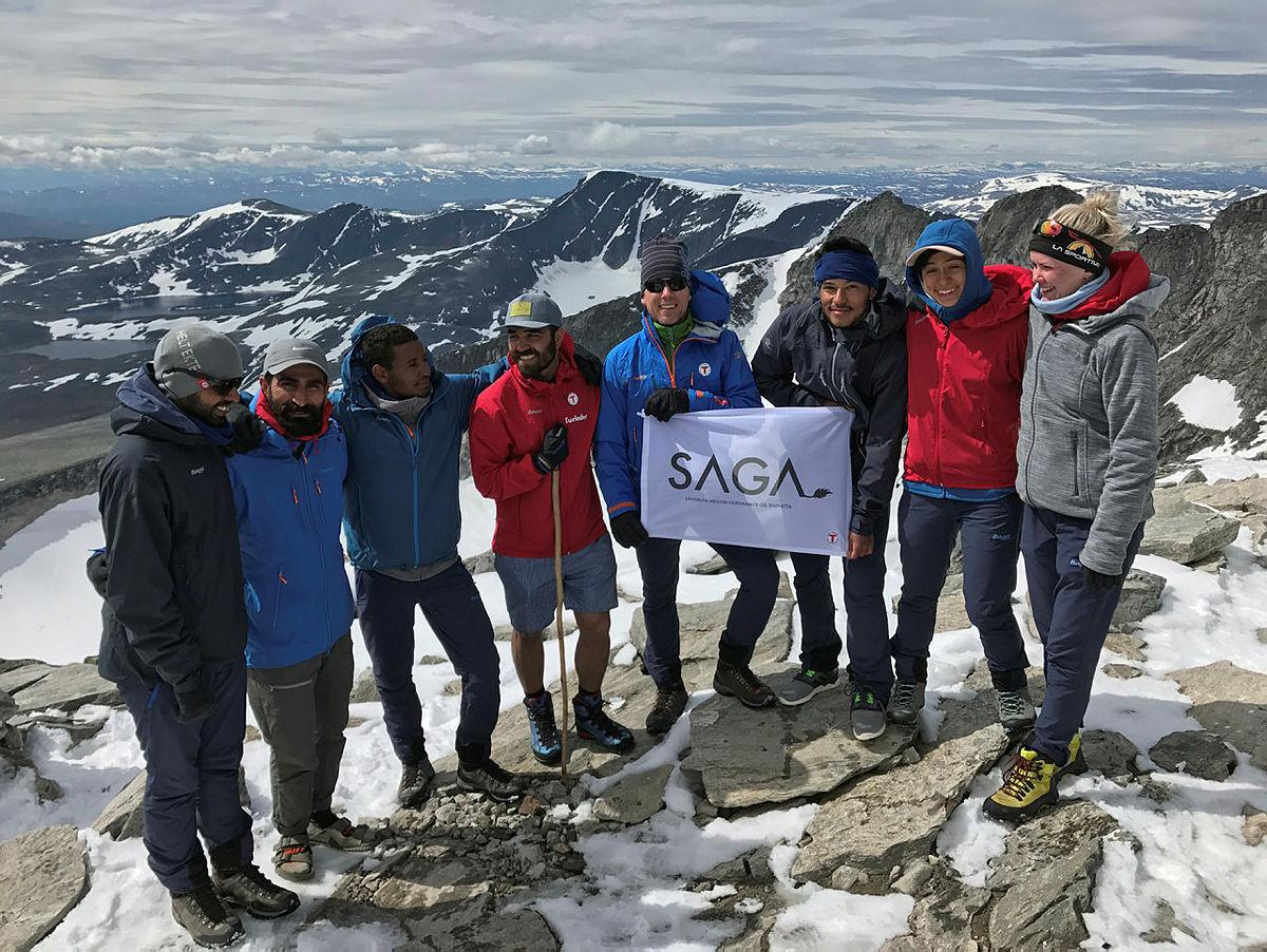 SAGA-gjengen når målet Snøhetta 7 juli 2017.
