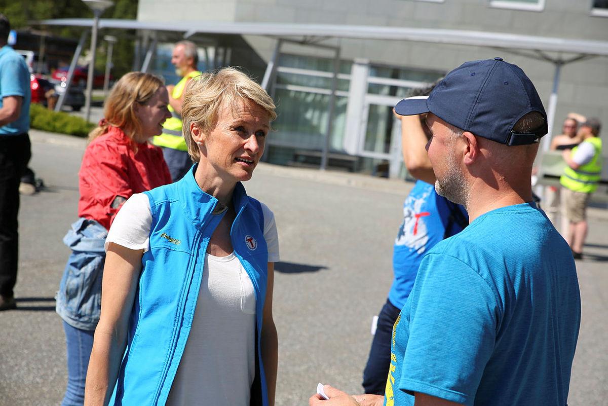Helene Ødven representerte Bergen og Hordaland Turlag under markeringen.