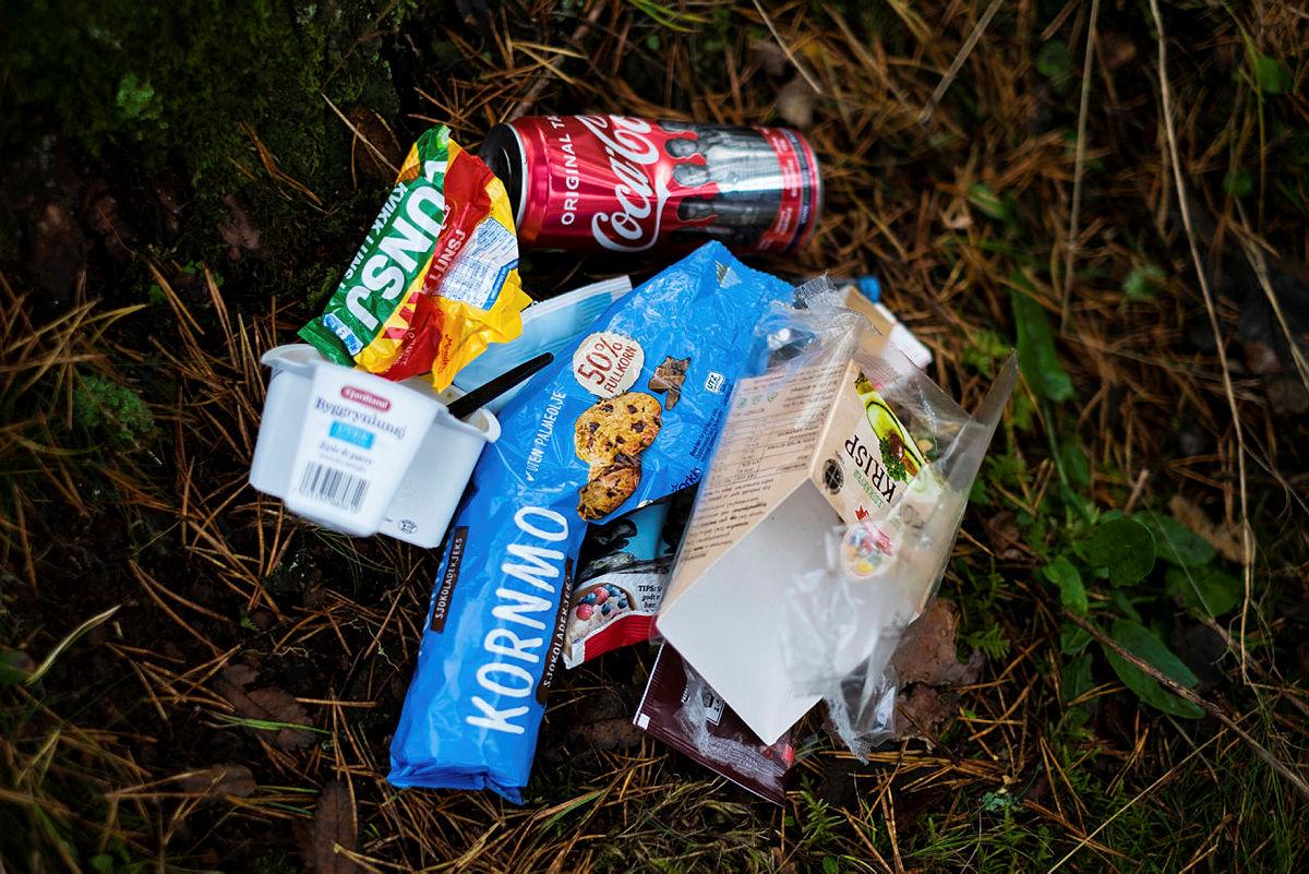 En god huskeregel er å ta med seg søppelet hjem igjen fra hyttene, så er du miljøbevisst også på hjemturen.
