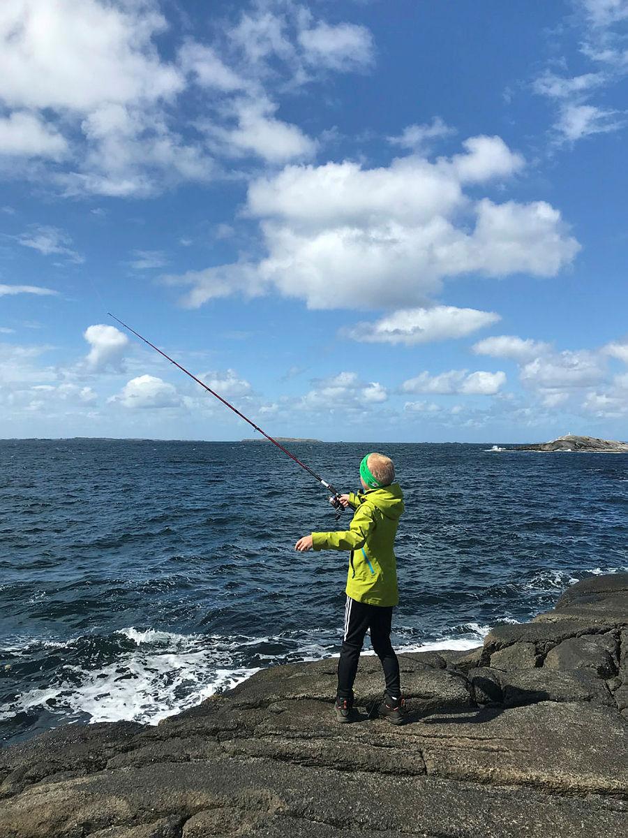 Gode muligheter for fiske fra bergene.