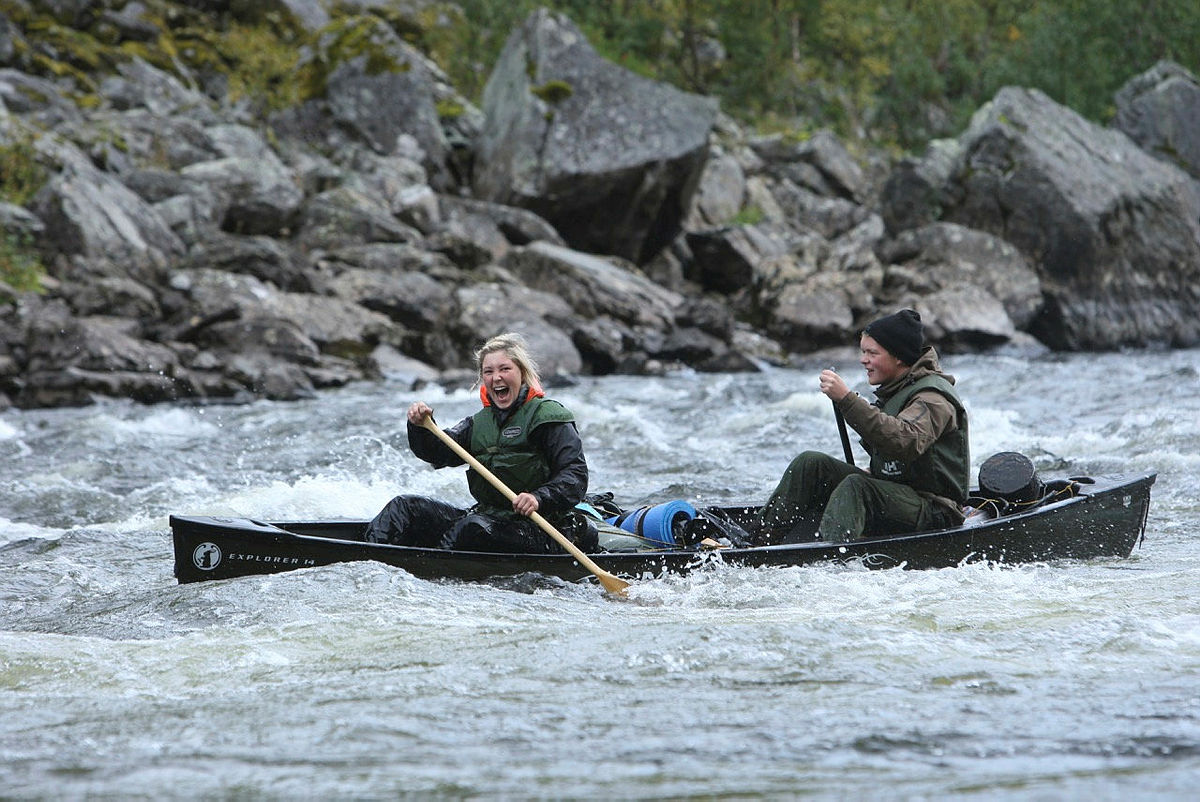 På teknikk-kurset lærer du å padle på elv - på vann i bevegelse.