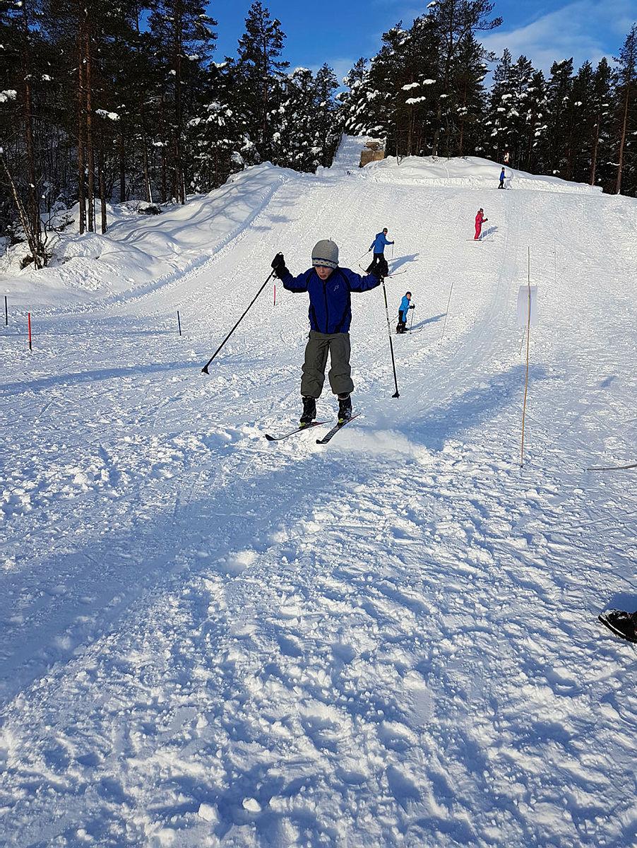 Samnanger Turlag hadde et strålende arrangement i Totræna vinterpark med omlag 500 små og store innom i løpet av dagen, med skilek og hundekjøring.