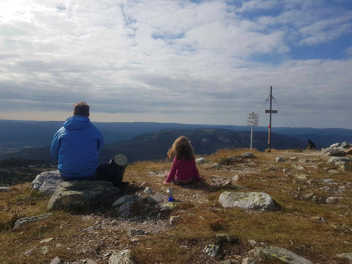 Fra Kom deg ut-dagen på Lifjell i Telemark.